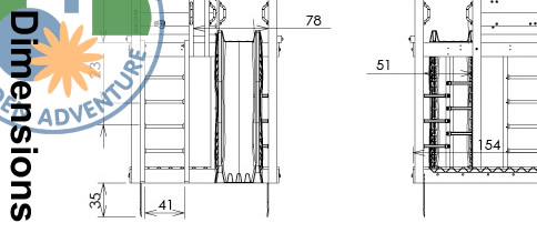Palace Climbing Frame Dimensions