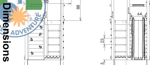 Fort Climbing Frame Dimensions