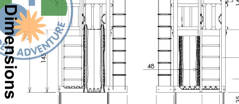 Lodge Climbing Frame Dimensions