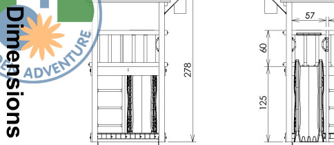 Casa Climbing Frame Dimensions