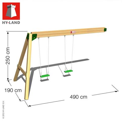 Hy-Land Swing Module Climbing Frame Dimensions