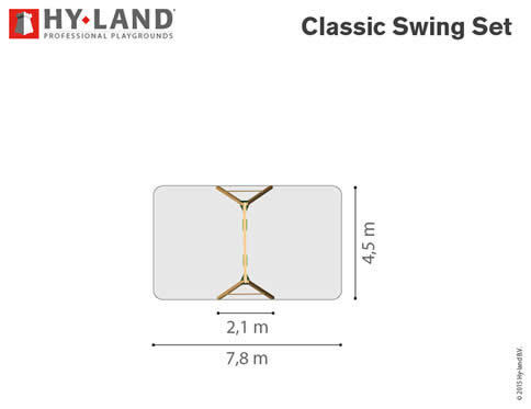 Hy-Land Swing Climbing Frame Dimensions