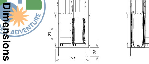House Climbing Frame Dimensions