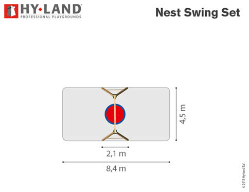 Nest Swing Climbing Frame Dimensions
