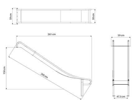 Steel Slide Climbing Frame Dimensions
