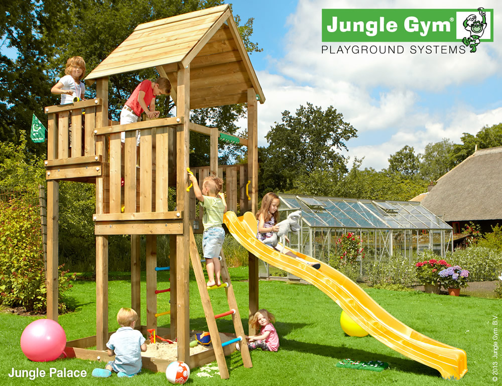 Backyard Jungle Requirements : Palace Climbing Frame with optional Modules
